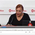 Rueda de prensa de las proposiciones de UdalBerri para el pleno de octubre de 2017